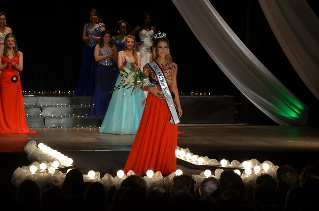 Junior Madison McCay was awarded Most Beautiful during the Parade of Beauties on Jan. 10. McCay later said she felt relieved and excited that all her hard work had paid off.