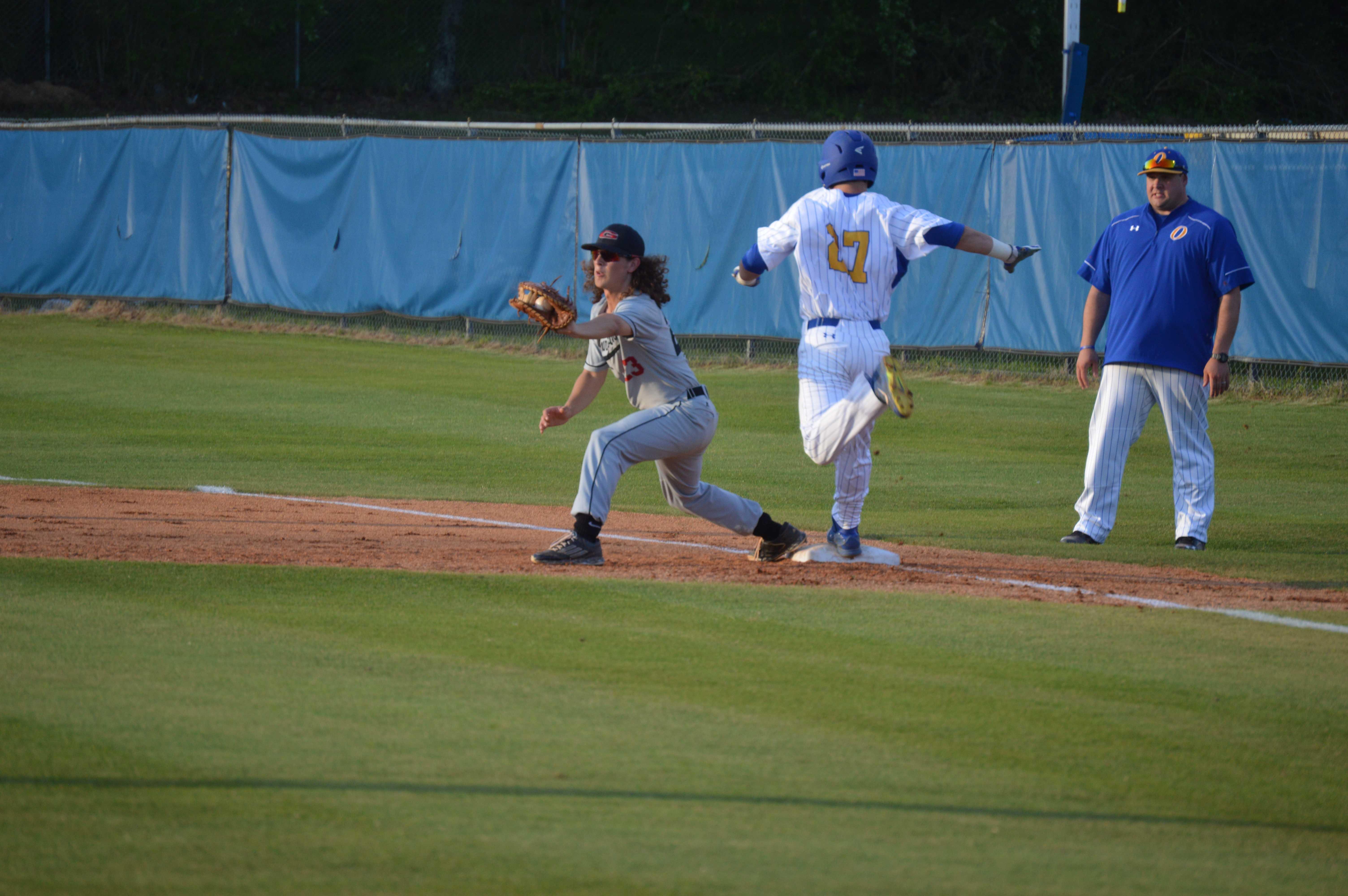 Freshman Drew Bianco hustles to first