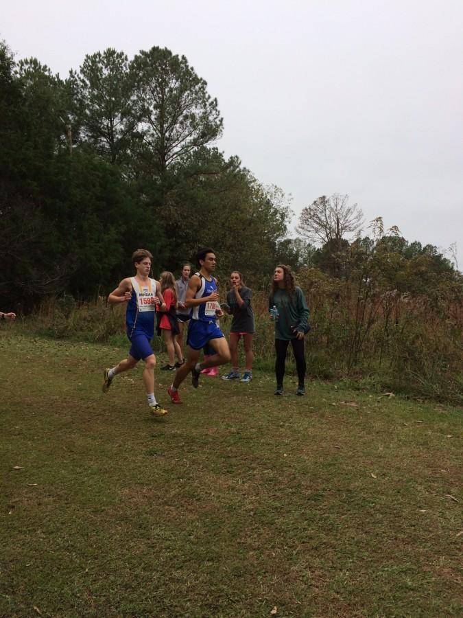 Junior Jonathan Tyler competes at the State Championship