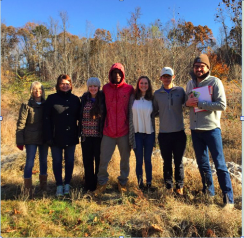 Environmental Science teacher Angela Whaley poses with her Field Experiences class during one of their field trips.