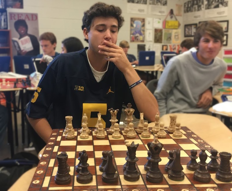 Junior Cole Catalano ponders his first move.