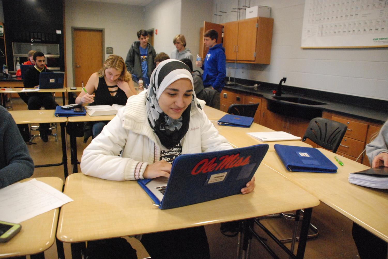 Senior Heba Marzouk continues to work hard towards her goal of graduating early. She decided to graduate early after realizing in her sophomore year that she only needed a few more credits to graduate.