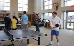Ping-pong team hosts tournament in library