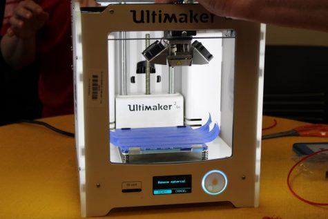 The 3D printer will be used for certain projects, and students and teachers must go through training before using the machine. A demonstration of the new printer occurred on April 16.