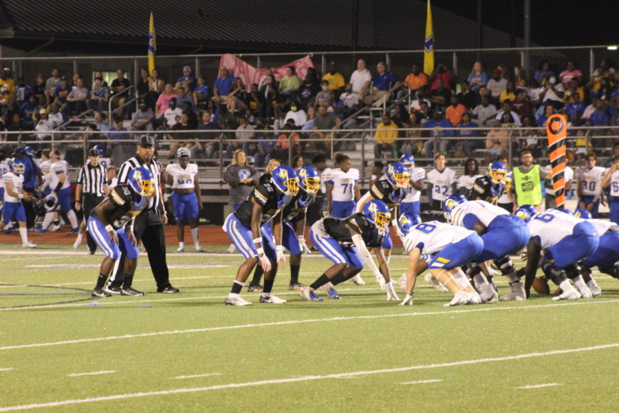 The Chargers line up against the Tupelo Golden Wave during the most recent home game on Friday, October 1. The Chargers defeated the Germantown Mavericks away last week 37-28. This week, the Chargers travel to Clinton High School to take on the Arrows.